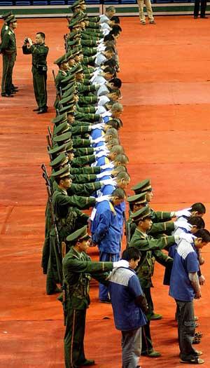 Excecuted prisioners in China used as organ donatorPena de muerte en china. Pelotón de fusilamiento