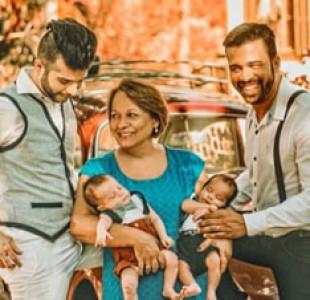 Mujer embarazada de sus nietos en Brasil