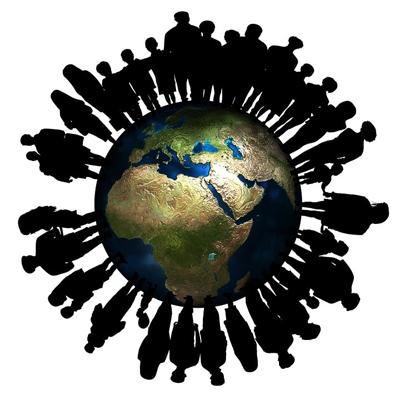 Crecimiento de la población mundial. Se estima que en 2050 se alcanzarán los 9.800 millones de habitantes y que en 2100 se estabilizará la población