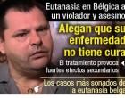 Eutanasia a un preso condenado a cadena perpetua en Bélgica