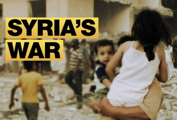 Syria and thers african countries deaths and displacement due to war
