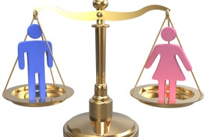 Equality scales weigh gender justice and sex issues